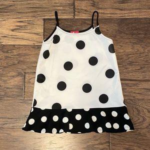 🌸NWOT🌸 White/Black Polkadot Cami Tunic Dress